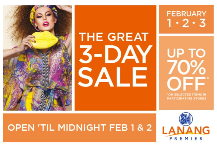 SM Lanang Premier Davao The Great 3 Day Sale Feb.1-3, 2013