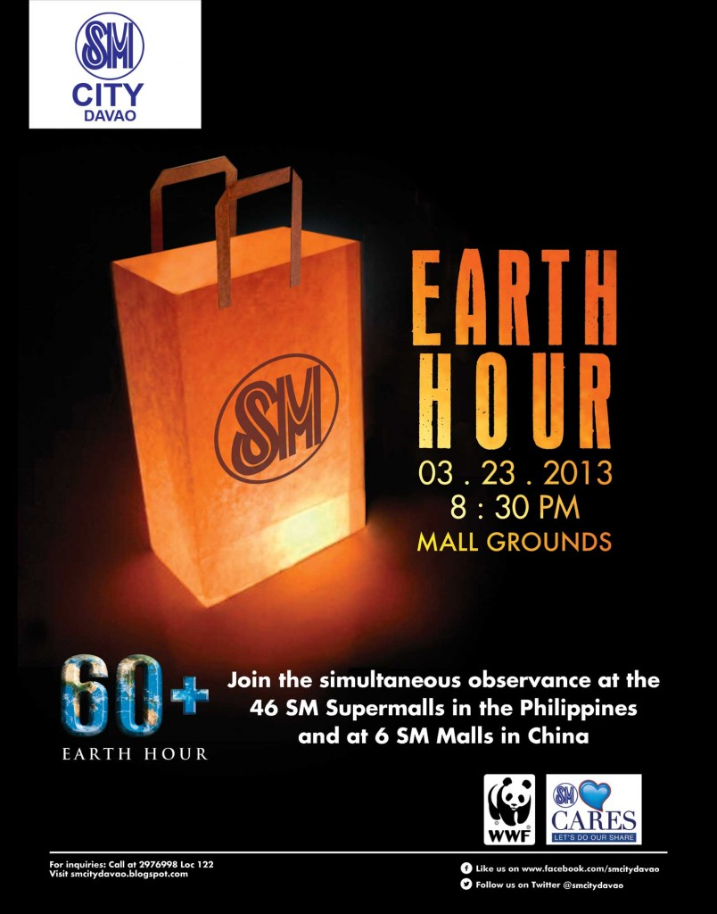 SM Davao Observes Earth Hour 2013 on March 23
