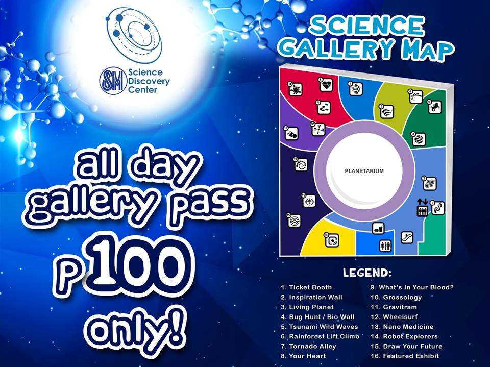 Science Discovery Center SMLanang Davao all day gallery pass P100
