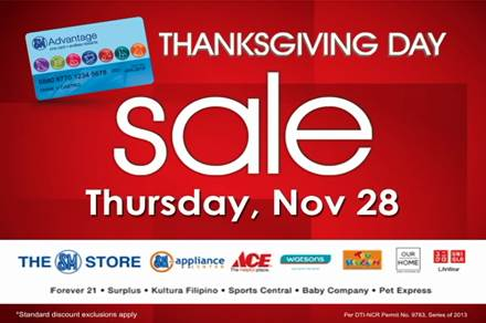 SM Advantage Card SM City Davao Thanksgiving sale 2013