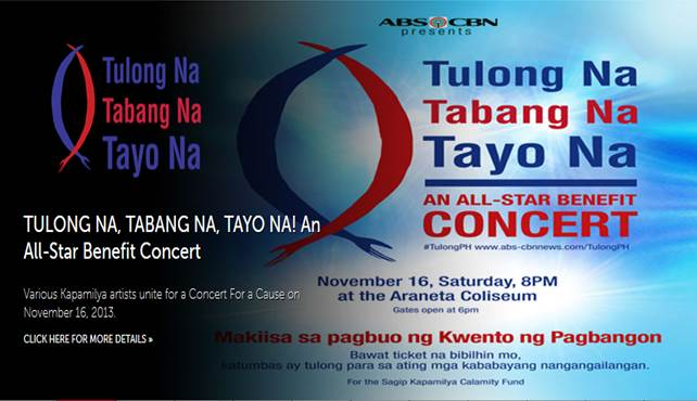 TULONG NA! TABANG NA! TAYO NA! An ABS-CBN All-Star benefit concert