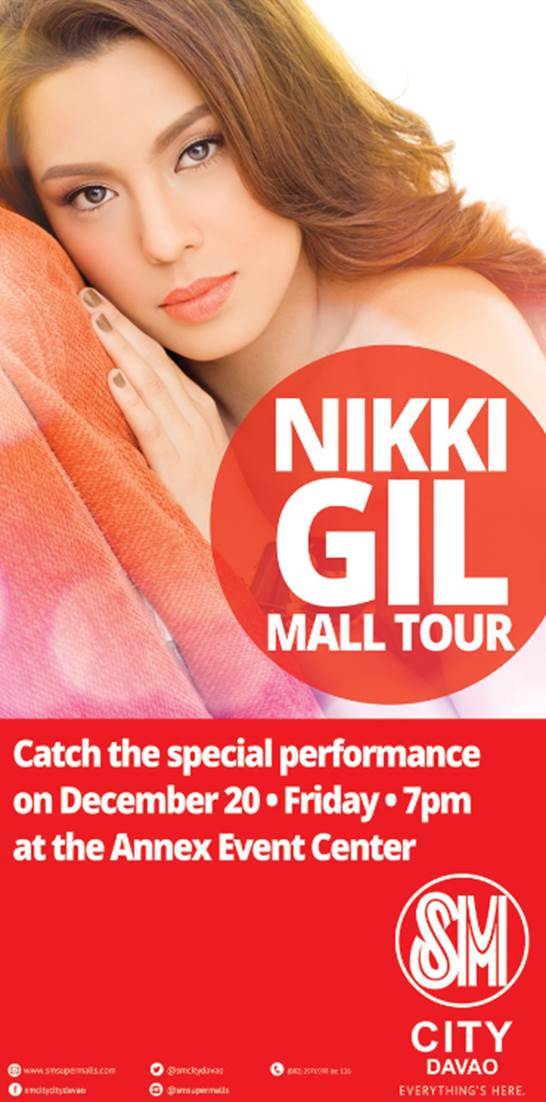 Nikki Gil mall tour SM City Davao
