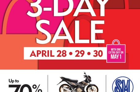 A Shower of Prizes At SM Davao 3 Day Sale