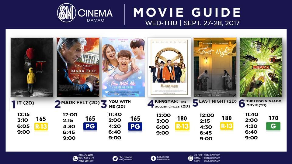 SM City Davao Cinema Movie Schedule | Movie Guide 2017