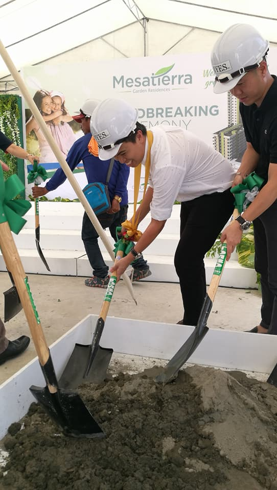 Cebu Landmasters Inc COO Jose Franco Soberano at the groundbreaking of Mesa Tierra Garden Residences