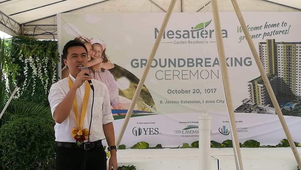 Cebu Landmasters Joint Venture Yuson Excellence Soberano Inc. GroundBreaking of MesaTierra Garden Residences Frederick Yuson Comm Investments