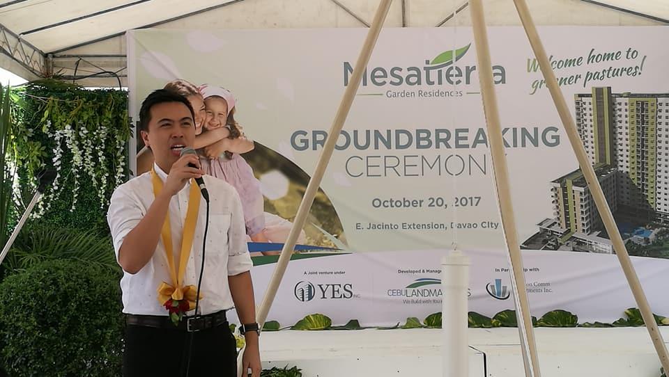 Cebu Landmasters Joint Venture Yuson Excellence Soberano Inc. GroundBreaking of MesaTierra Garden Residences Frederick Yuson Comm Investments