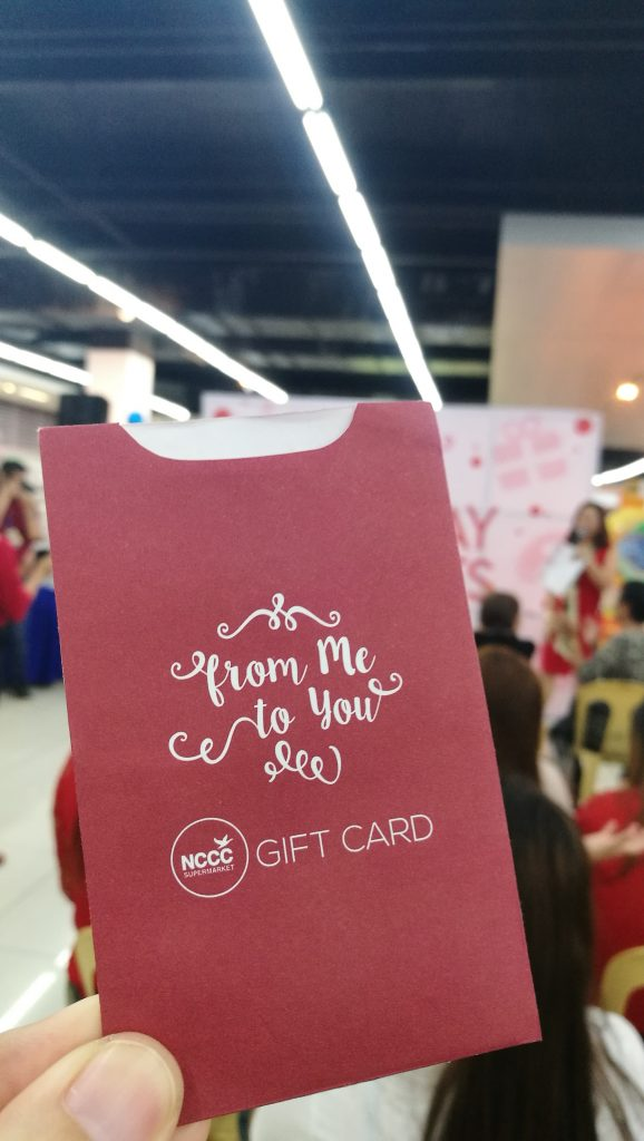 NCCC gift card