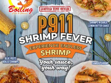 Blue Posts Boiling Crabs and Shrimps 911 Shrimp Fever Is On nationwide