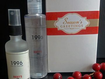 Rocky's 1996 gift pack contains the 1996 perfume & 1996 After Shave splash. Avialable at all Rocky's branches in the leading Davao malls