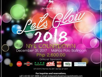 Let's Glow 2018 Marco Polo Davao New Year Countdown party