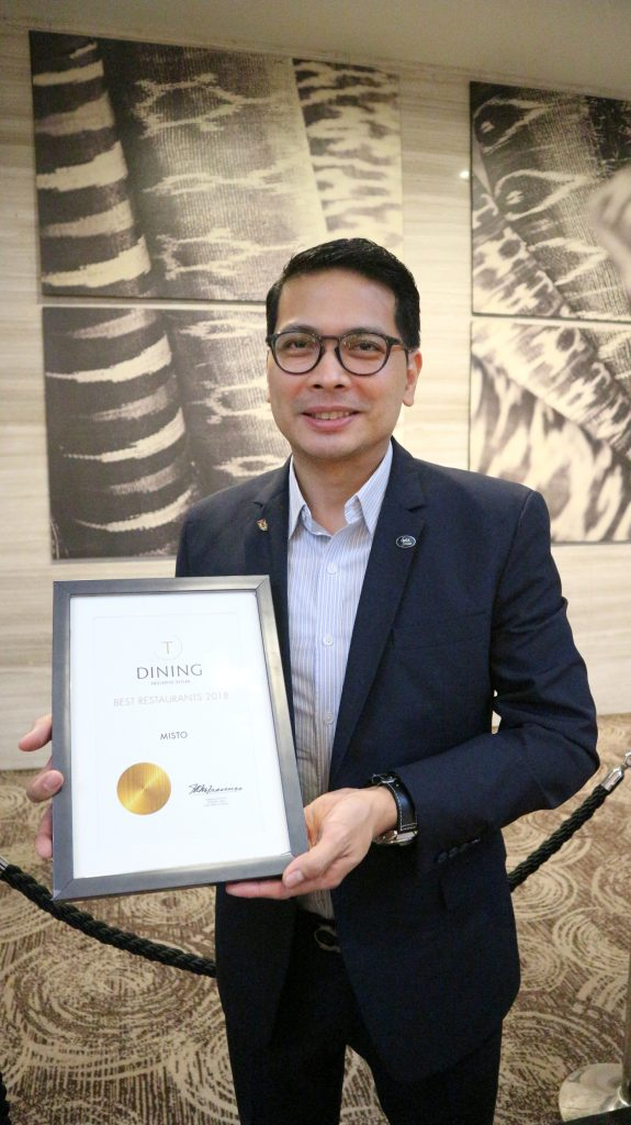 Seda Abreeza Hotel General Manager Ken Kapulong | Misto in Philippine Tatler's Best Restaurants Guide for 2018