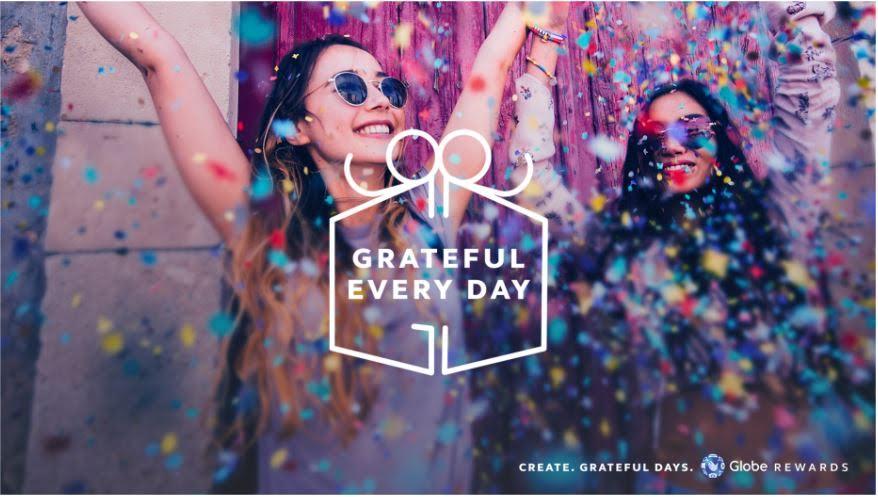 Grateful Everyday. Globe Rewards. Happy 917 Day image from Globe Telecom