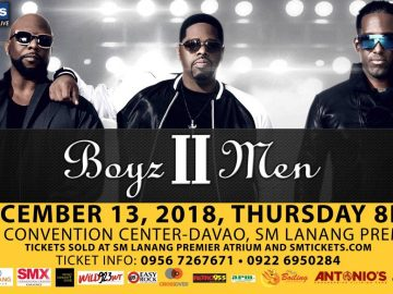 Boyz II Men concert in SMX Davao December 2018