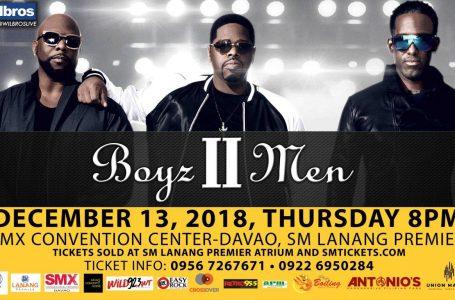 Boyz II Men Concert at SMX Davao in SM Lanang Premier