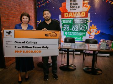 Big Bad Wolf donation turnover to Gawad Kalinga