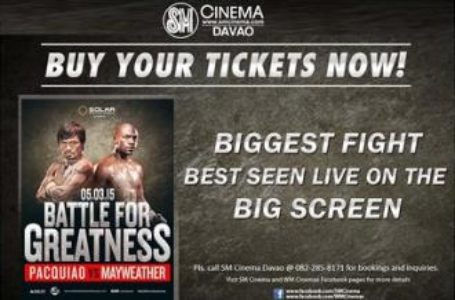 Pacquiao vs Mayweather, SM City Davao 3 Day Sale on May 3
