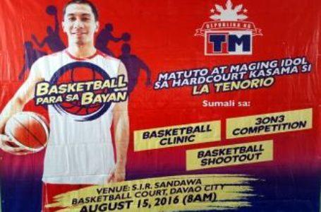 LA Tenorio Leads TM Basketball Para Sa Bayan Clinic in Davao