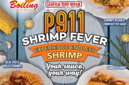 Shrimp Fever Is On at Boiling Crabs and Shrimps with their Unli Shrimps for P911