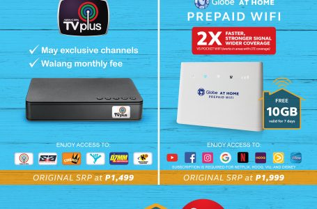 Complete Your Entertainment Experience with the Globe At Home WiFi TV Pack at P2,999